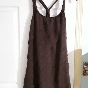 Brown tiered tank top